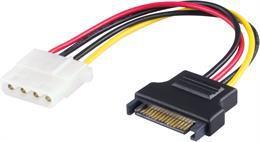DELTACO strömadapter för hårddiskar, 4-pin till Serial ATA strömkontakt