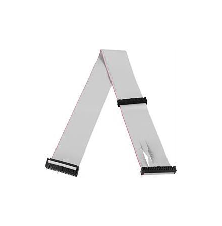 "DELTACO flatkabel för floppy, 3x3,5"" kontakter, 60cm"