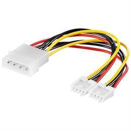 "DELTACO Y-kabel intern för 2st 3,5"""