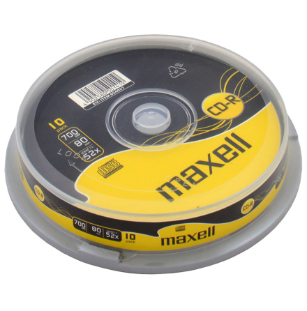 Maxell CD-R 700MB 52x 10-pack Spindel