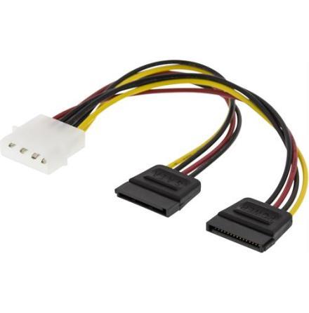 DELTACO Y-strömkabel för 2xSerial ATA hårddiskar